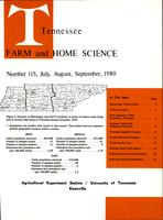 Tennessee farm and home science, progress report 115, July - September 1980