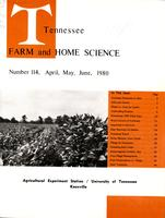 Tennessee farm and home science, progress report 114, April - June 1980