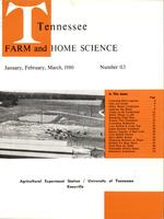 Tennessee farm and home science, progress report 113, January - March 1980