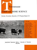 Tennessee farm and home science, progress report 112, October - December 1979