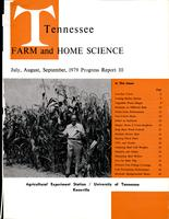 Tennessee farm and home science, progress report 111, July - September 1979