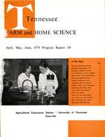 Tennessee farm and home science, progress report 110, April - June 1979