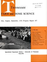 Tennessee farm and home science, progress report 107, July - September 1978