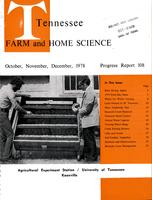 Tennessee farm and home science, progress report 108, October - December 1978