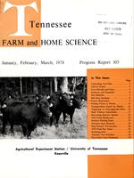 Tennessee farm and home science, progress report 105, January - March 1978