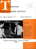 Tennessee farm and home science, progress report 103, July - September 1977
