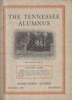 Tennessee Alumnus. Volume 13, Issue 5: Homecoming Issue, 1929 October