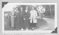 Eleanor Brabson, Miriam Swan, Mary Durkee, Pauline Campbell, and Rosemary Moorehead, elementary school teachers