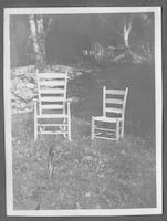 Chairs made and used entirely by the mountaineers