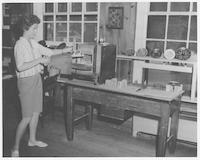 Enamel student - Summer Craft Workshop - 1961