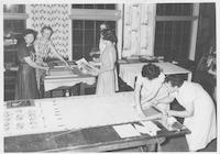 Block printing - 1st Summer Craft Workshop - 1945.