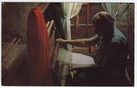 Mary L. Ownby at her loom.