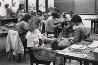 Basketry class at the Arrowmont School of Arts and Crafts, Gatlinburg, TN. (June 19-23, 1989)