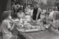 Studio Assistants from the Arrowmont School of Arts and Crafts will give craft demonstrations Thursday, June 30, 7-9 p.m., weather permitting, on the mall next to Gatlinburg's Arrowcraft Shop. (July 1992)