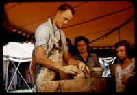 Man using pottery wheel at the Southern Highlands Craftsmans Fair.