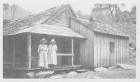 Rear view of Teachers' Cottage, Sugarlands Showing.  Bedroom kitchen has no windows.  5/26/24