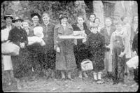 Group of people on the Settlement School grounds.