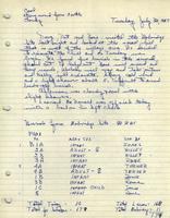 Bass Field Notes, 39WW1, 1968-1969