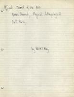 Bass Field Notes, 39WW1, 1969