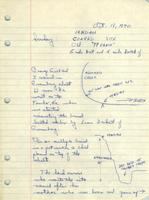 Bass Field Notes, 14MD401, 1970 October 18