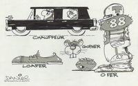 Chauffeur, Gopher, Loafer, O Fer
