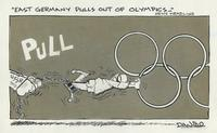 East Germany pulls out of Olympics