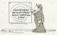 Tennessee's 15-day handgun waiting law.