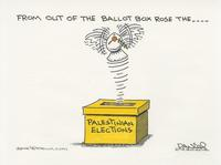 From out of the ballot box rose the...Palestinian elections