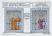 Grandma in jail for overdue library books