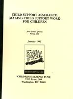 Child Support Assurance: Making Child Support Work for Children