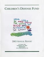 Children's Defense Fund Annual Report 2003