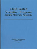 Child Watch Visitation Program Sample Materials Appendix