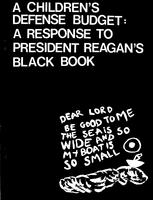 Children's Defense Budget: A Response to President Reagan's Black Book