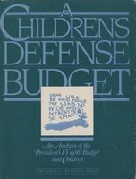 Children's Defense Budget: An Analysis of the President's FY 1986 Budget and Children