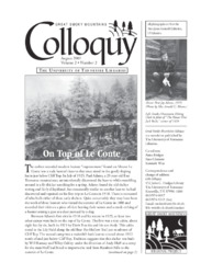 Great Smoky Mountains Colloquy:              Volume 2, Number 2