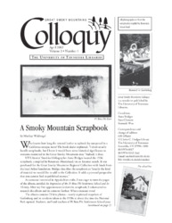 Great Smoky Mountains Colloquy:              Volume 3, Number 1