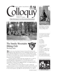Great Smoky Mountains Colloquy:              Volume 4, Number 1