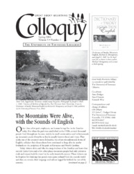 Great Smoky Mountains Colloquy:              Volume 5, Number 1