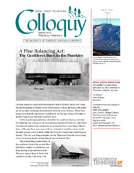 Great Smoky Mountains Colloquy:              Volume 14, Number 1