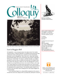 Great Smoky Mountains Colloquy:              Volume 17, Number 1
