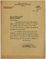 Letter to Dr. H. A. Morgan from L. A. Richardson