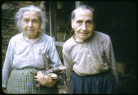Margaret and Louisa Walker at Their Log Cabin Home in the Smokies.