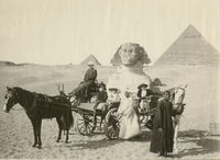 Mr. and Mrs. Louis Bailey Audigier of Knoxville at Great Sphinx at Gizeh