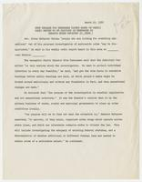 """News Release for Tennessee Papers Based on Weekly Radio Report to 28 Stations in Tennessee by Senator Estes Kefauver (D., TENN.)"""