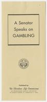 """Senator Speaks on Gambling"""