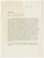 Memorandum from Senator Estes Kefauver to members of the Committee