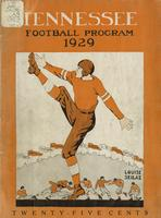 1929 Football Program - UT vs Mississippi