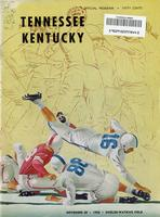1954 Football Program - UT vs Kentucky