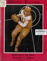 1933 Football Program - UT vs Alabama