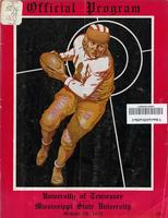 1933 Football Program - UT vs Mississippi State